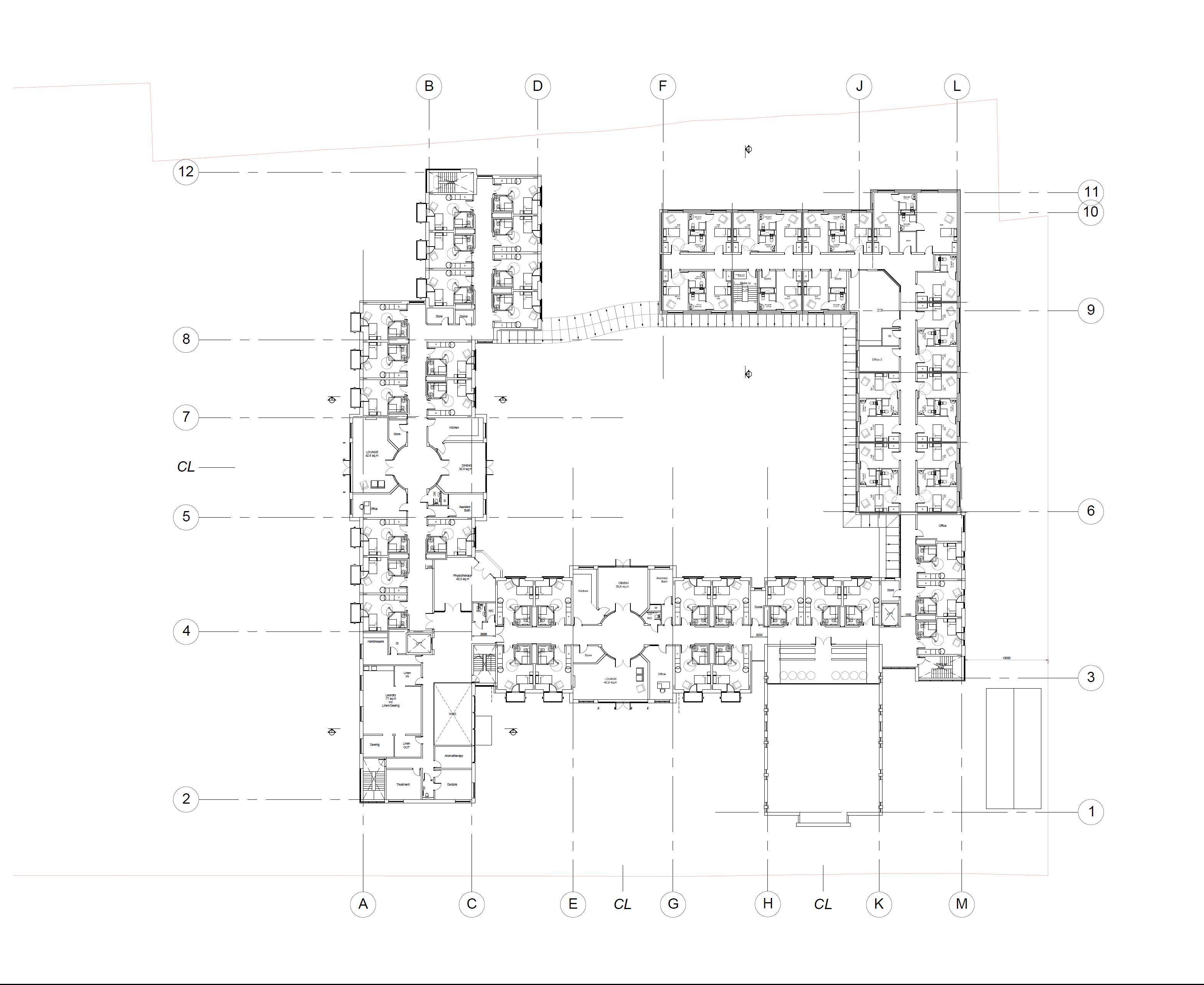Residential care home proposed first floor plan brooke for Residential home plans