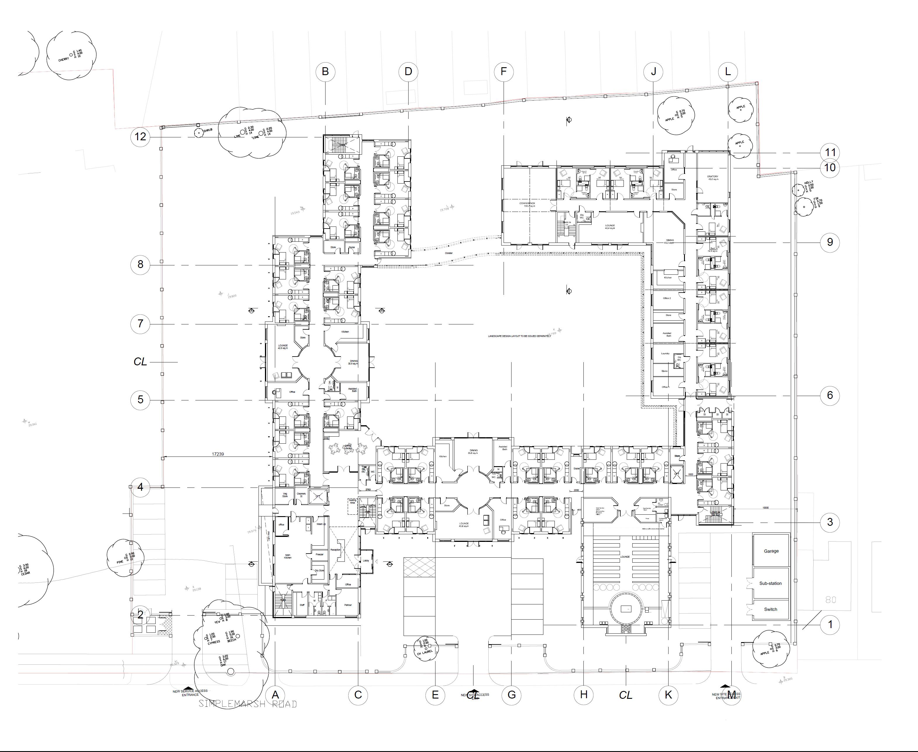 Residential care home proposed ground floor plan brooke Residential building plan sample